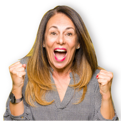 Glad medelålders yrkeskvinna