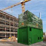 Mobil panncentral för fossilfri byggvärme green