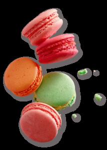 Macroner-olika-färger-skuggad-Cookies-Vuab