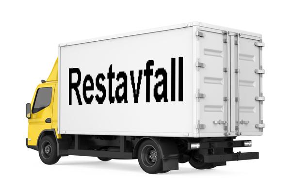 Lastbil med restavfall