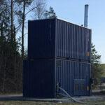 Mobil Pelletspanna med inbyggd silo för uthyrning